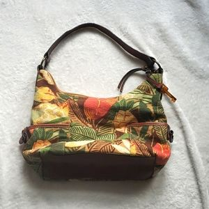 Fossil handbag floral leather